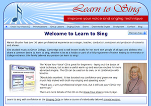 Marion Shuster's Website Learn2Sing.org